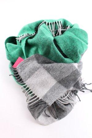 COS Wollen sjaal groen-lichtgrijs geruite print casual uitstraling