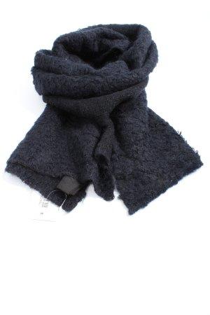 COS Écharpe en laine bleu style décontracté