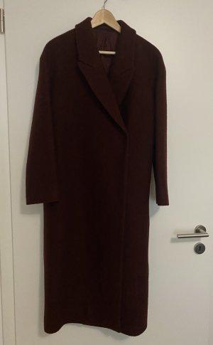 COS Cappotto in lana marrone-rosso Lana