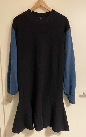 COS Robe en laine bleu acier-bleu foncé laine