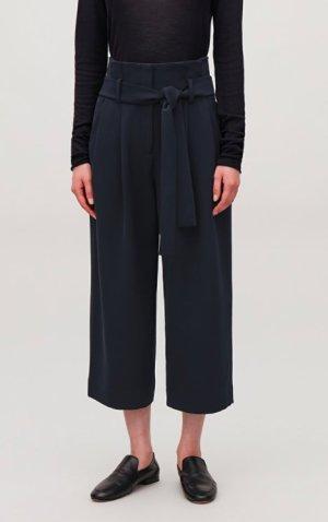 COS Woolen Trousers dark blue wool