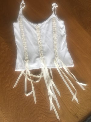Haut type corsage blanc cassé