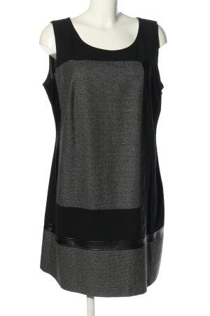 Cosima A-Linien Kleid schwarz-hellgrau meliert Business-Look
