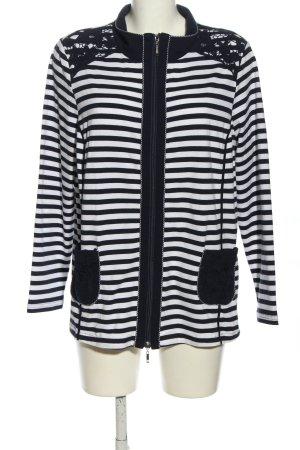 Cosima Cardigan schwarz-weiß Streifenmuster Casual-Look