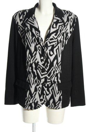 Cosima Jerseyblazer schwarz-weiß grafisches Muster Elegant