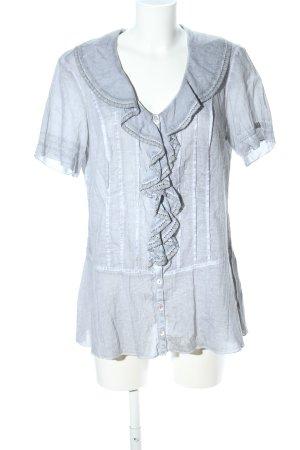 Cosima Short Sleeved Blouse light grey casual look