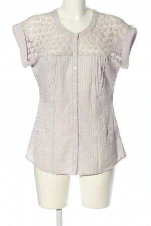 Cosima Short Sleeved Blouse light grey striped pattern casual look