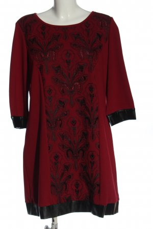 Cosima Longsleeve Dress red-black mixed pattern elegant