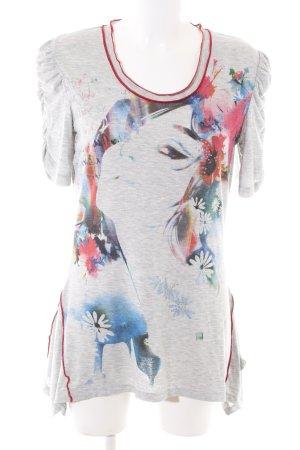 Cosima Print-Shirt meliert Casual-Look