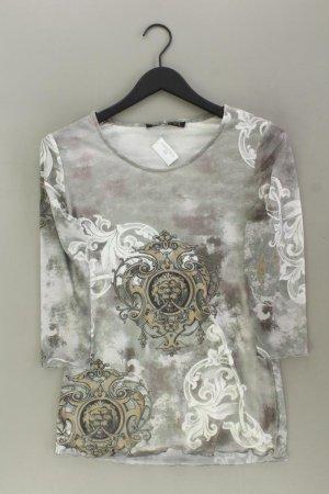 Cosima Printshirt Größe 38 3/4 Ärmel grau aus Polyester
