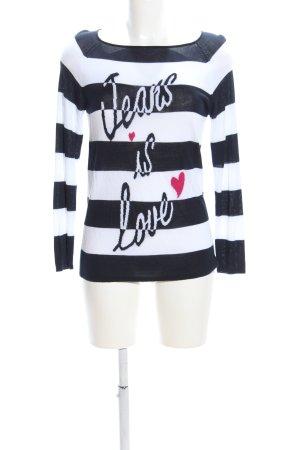 Cosima Crewneck Sweater white-black printed lettering casual look