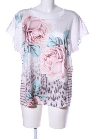 Cosima Shirt Tunic pink flower pattern casual look