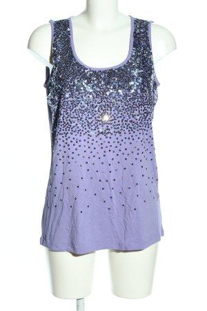 Cosima Tank Top blue glittery