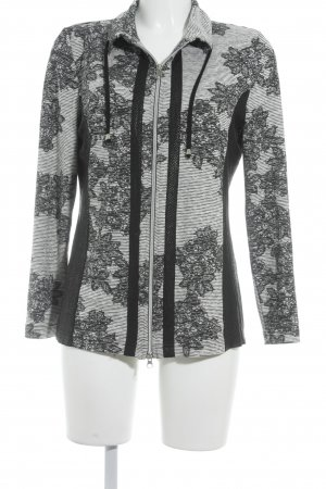 Cosima Between-Seasons Jacket black-white abstract pattern casual look