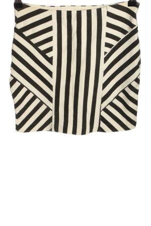 Costa Blanca Minirock weiß-schwarz Streifenmuster Casual-Look