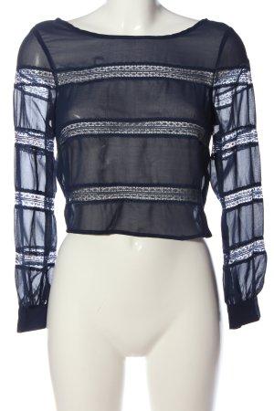 Costa Blanca Transparenz-Bluse blau Casual-Look