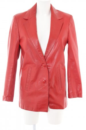 Leather Blazer red casual look