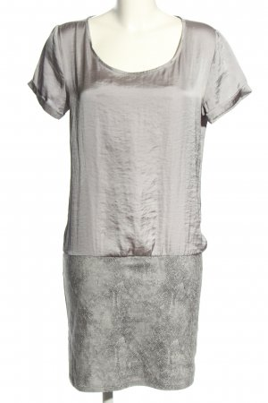 Costes Blouse Dress light grey-silver-colored animal pattern casual look