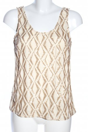 Costes Blouse Top natural white graphic pattern casual look