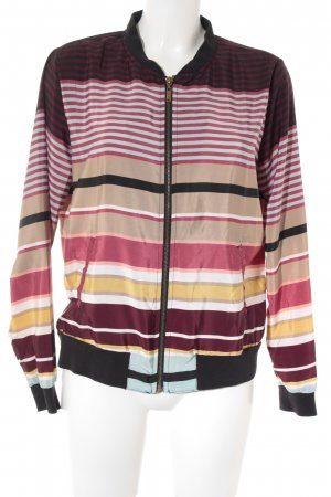Costes Bomberjacke Streifenmuster Casual-Look