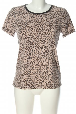 Costes Short Sleeved Blouse nude-black leopard pattern casual look