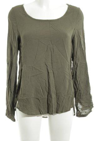 Costes Langarm-Bluse khaki-grün Casual-Look
