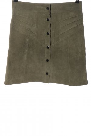 Costes Leather Skirt khaki casual look