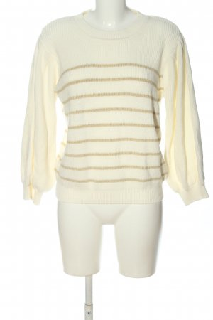 Costes Crewneck Sweater cream-gold-colored striped pattern casual look