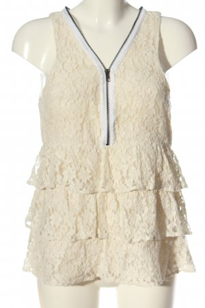 Costes Lace Blouse cream casual look