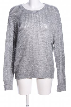 Costes Knitted Sweater light grey cable stitch casual look