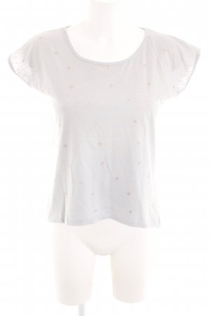 Costes T-Shirt natural white-gold-colored abstract pattern casual look