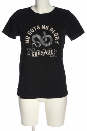 Costes T-Shirt black themed print casual look