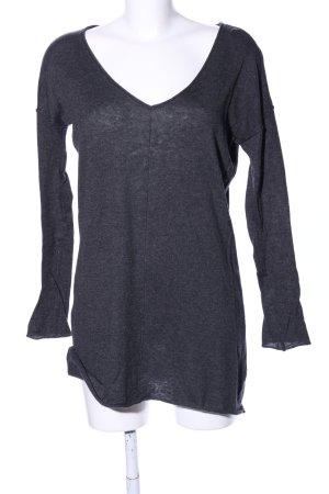Costes V-Ausschnitt-Pullover hellgrau meliert Casual-Look