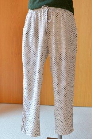 COSTOMMADE 36/38 Scandistyle cropped Seidenhose Boyfriend Pyjama Greige Etikett