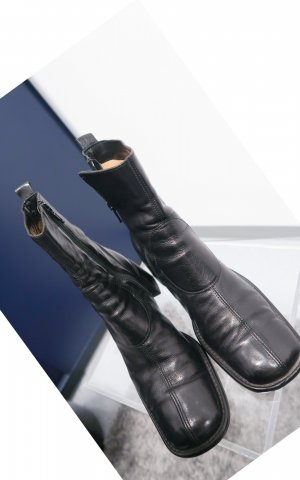 Costume National Zipper Booties black leather