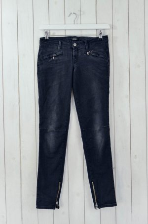 COSTUME NATIONAL Damen Jeans Hose Denim Schwarz Reißverschluss Stretch Gr.28/ 42