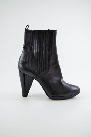 Costume National Booties black leather