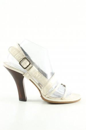 Costume National High Heel Sandaletten wollweiß Casual-Look