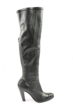Costume National Wysokie buty na obcasie czarny Elegancki