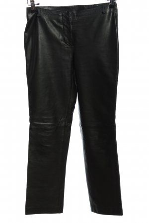 Costume National Lederhose schwarz Glanz-Optik