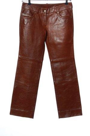 Costume National Pantalone in pelle marrone stile casual