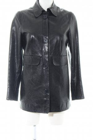 Costume National Leather Jacket black casual look