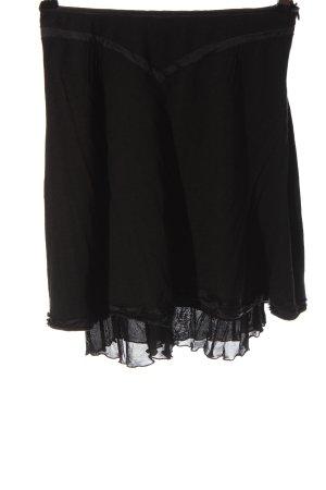 Costume National Gonna di lana nero stile casual