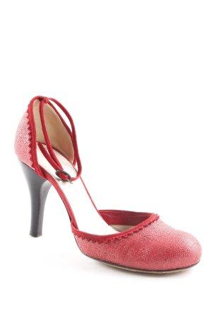 Costume National Riemchen-Sandaletten rot klassischer Stil
