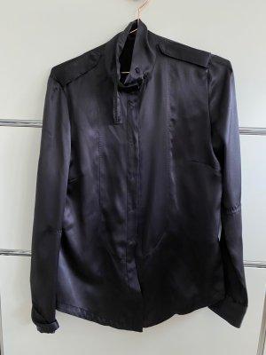 Costume National Blusa in seta marrone scuro