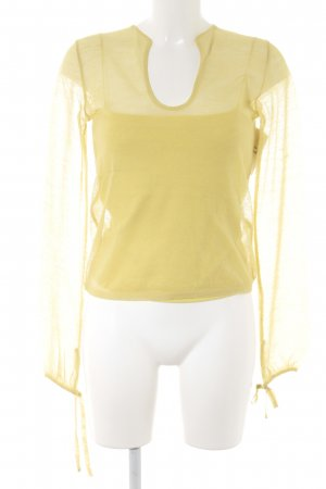 Costume National Woven Twin Set yellow casual look