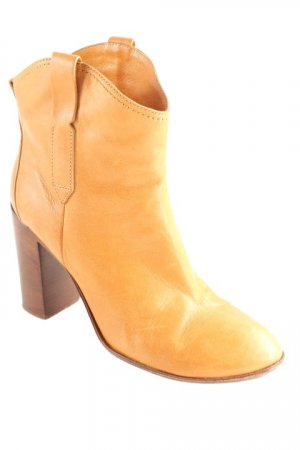 Costume National Western Booties cognac-coloured Ornamental trimming