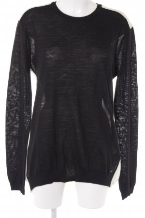 Costume National Wool Sweater black-natural white classic style