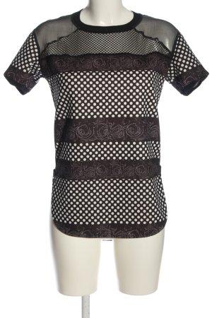 Costume Nemutso Print Shirt black-white allover print casual look