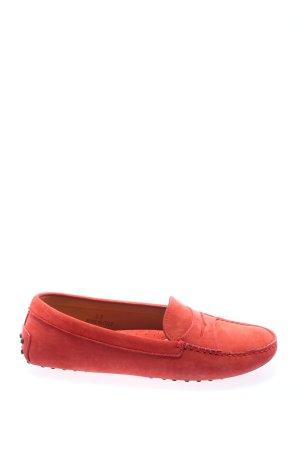Costume Selection Mokasyny czerwony W stylu casual